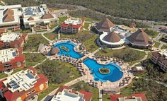 The Resort from above Mayan Ruins, Sandy Beaches, Riviera Maya, To Go, Mexico, Mansions, House Styles, Places, Bahia