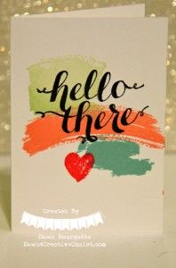Work Of Art Hello There Stamp Sets Pistachio Pudding, Crisp Cantaloupe, Coastal Cabana and Strawberry Slush. Card Making Inspiration, Making Ideas, Cool Cards, Easy Cards, Stampin Up Karten, Stampin Up Catalog, Stamping Up Cards, Watercolor Cards, Stamp Sets