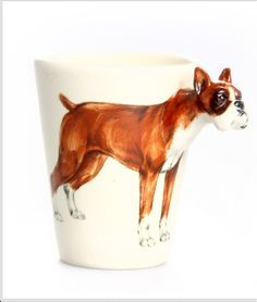 Boxer mug... I swear to God this is Jackson!! So cute!  (Google search - fab app, on home items, $29)