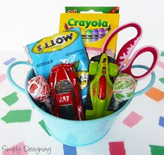 Kids Gift Bucket: Fun Activities for Kids at a Party #wedding #party #kids