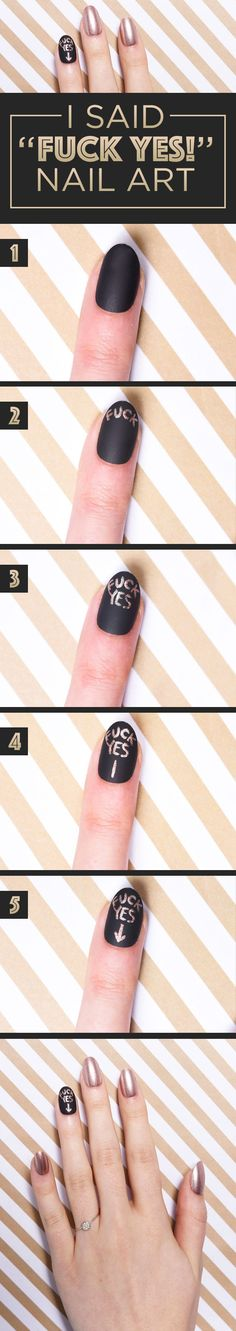 For the newly betrothed person who's proud AF: | Here's How To Make Your Nails Look Fly AF For A Wedding