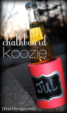 Chalkboard Koozie - great for parties or get-togethers so everyone can mark their drink!