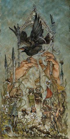 Gorgeous work by Philadelphia-based illustrator Jeremy Hush. More images below.          Jeremy Hush's Website