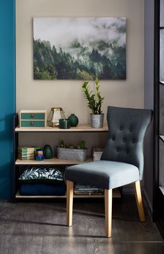 Bring the outdoors in with this gorgeous forest canvas Aw18 Trends, Misty Forest, Home Collections, Dining Bench, Outdoors, Canvas, Furniture, Color, Home Decor