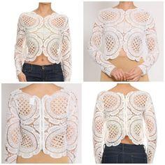 Cream crochet crop / Luxe Life boutique