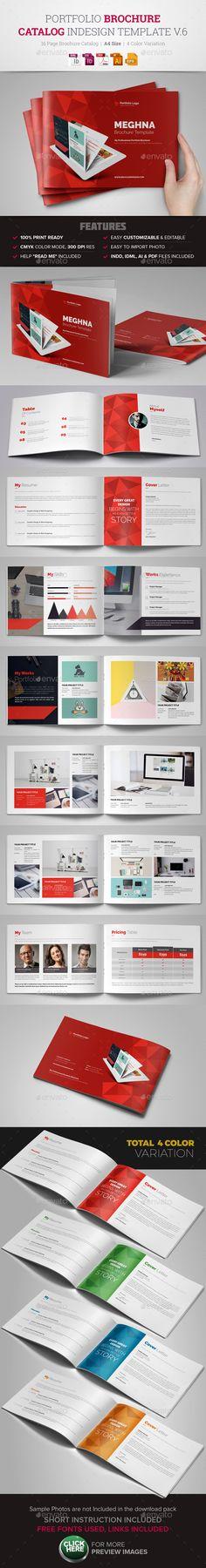 Portfolio Brochure InDesign Template #design Download: http://graphicriver.net/item/portfolio-brochure-indesign-template-v6/13874293?ref=ksioks