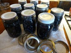 How to water bath can blueberries. I know that a lot of folks are a little leery to try pressure canning but blueberries don't need to be pressure canned Canned Blueberries, Wild Blueberries, Canning Food Preservation, Preserving Food, Blueberry Water, Pickled Cauliflower, Canning Vegetables, Water Bath Canning, Pressure Canning