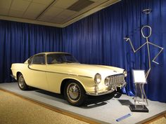 The Saints Volvo P1800 at the Volvo museum, Gothenberg, Sweden.
