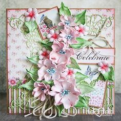 Celebration Roses Papercraft Project - Elegant foam flowers add a soft look to any handmade greeting card or papercraft project! This card has been created with the Birds and Blooms Collection and has been accented with gorgeous art foam roses! The perfect blend of greeting card and gift for that special someone! Save for later! #HeartfeltCreations #birthday #handmadebirthdaycard #cardsamples #handmadegreetingcard #papercraft #foamflowers #roses #birdsandblooms #cardmaking #craftsupplies…