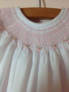 Baby Girl Smocked Bishop Dress 3 mo. by SeamsbyLeslie on Etsy, $124.00