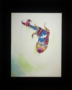 Koi Patterns Wall Art  $75.00 USD  Ink, pencils, watercolor on bristol   11 x 14  Alex Hundemer