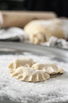 Tradičné bryndzové pirohy  (ravioli with sheep cheese filling)