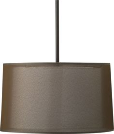 Eclipse Antiqued Bronze Pendant Lamp in Chandeliers, Pendants | Crate and Barrel (two over dining room table?)