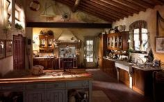 Rustic Style Kitchen with Amazing Decoration