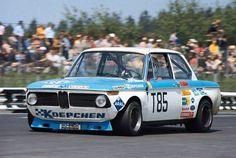 Helmut Kelleners behind the wheel of a Koepchen BMW 2002 at the 1000 Kms 1973 Porsche, Audi, Bmw E9, Bavarian Motor Works, Bmw Alpina, Bmw Classic Cars, Bmw 2002, Car Racer, Bmw Cars