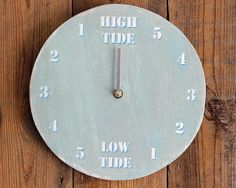 Hey, I found this really awesome Etsy listing at https://www.etsy.com/listing/533617824/tide-clock-driftwood-light-blue-grey-and