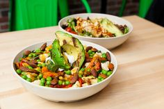 A new restaurant sources from local producers to give customers and the community something good to eat. Diners, Kung Pao Chicken, Real Food Recipes, Bowls, Salads, Restaurant, Let It Be, Random, Eat