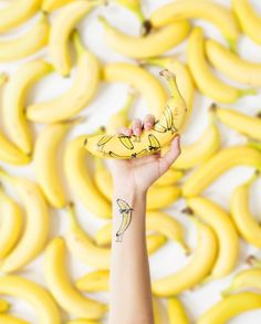 You're one Cool Banana! Did you know Tattly Temporary Tattoos can stick on nearly anything? Design by Peagreen Designs for Tattly.