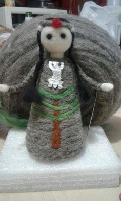 Mapuche en Vellon Snowman, Christmas Ornaments, Holiday Decor, Felting, Aurora, Outdoor Decor, Home Decor, Ideas, Ornaments