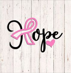 Hope Breast Cancer Decal Pink Ribbon Stickers Breast Cancer