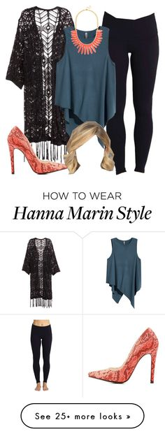 """""""Hanna Marin inspired outfit with yoga leggings"""" by liarsstyle on Polyvore…"""