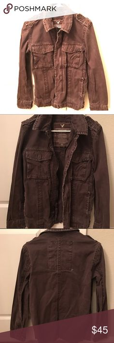 American Eagle Men's Jacket Men's jacket from American Eagle. Dark brown. Size XS. Previously loved but still in great condition. Great for fall/winter. Comes from a smoke free home. American Eagle Outfitters Jackets & Coats