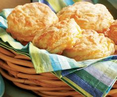 Flaky Cheese Biscuits Recipe - the instructions were easy to follow and they tasted great.  Next time I will add fresh herbs