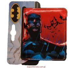 Portfel Batman czerwona grafika