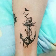 Check out this Black Anchor Tattoo Design Ideas. Get more unique tattoo ideas for men and women. See more ideas about Tattoos for Men, Tattoos for Women. Anchor Compass Tattoo, Anchor Tattoos, Arrow Tattoos, Neue Tattoos, Body Art Tattoos, Sleeve Tattoos, Cool Tattoos, Tiny Tattoos For Women, Tattoos For Guys