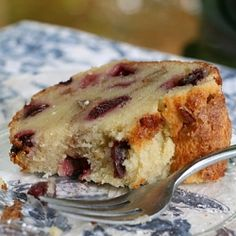 Cherry Almond Coffee Cake made with fresh cherries.