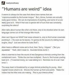 Humans are Weird: mimics