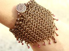 Etno Bracelet Scythian Creative design copper by ArtJewerly, $47.00
