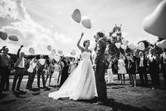 Bride and Groom Balloons | Marco + Claudia