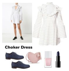 """""""choker dress"""" by im-karla-with-a-k on Polyvore featuring Caroline Constas, Henry Beguelin and The Hand & Foot Spa"""