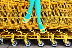 OOoh such pretty colors!!! found via frecklewonder. But that can't be comfy sittin' on them thar shopping carts.