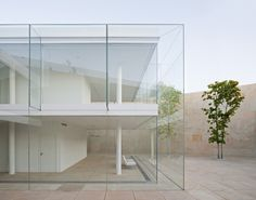 ~ Oficinas Zamora by Alberto Campo Baeza #office #architecture #exterior glass + white + modern + sleek