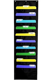 File Folder Storage 10 Pockets Black
