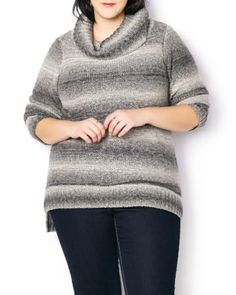 Cowl Neck Striped Sweater | Penningtons