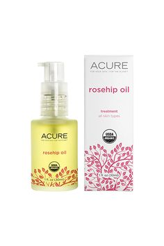 """""""Jojoba oil and rose-hip oil. Both are amazing to moisturize at night! They don't break me out, they brighten and plump up my skin, clear acne scars quickly, and make my skin feel soft as a kitten. LOVE them! And they're natural, which is always nice, since our skin soaks up whatever we put on top.""""Acure Organics Certified Organic Rosehip Oil, $12.99, available at Birchbox. #refinery29 http://www.refinery29.com/best-beauty-blogger-skincare-products#slide-4"""