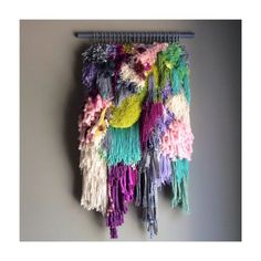 MADE TO ORDER - Woven wall hanging / Little treasures // Handwoven Tapestry Weaving Fiber Art Textile Wall Art Home Decor Jujujust