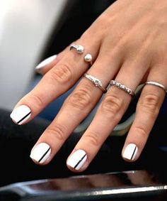 Total Beauty | 14 Chic Nail Art Ideas to Copy from NYFW - The Bold Ballet Slipper #beautynails