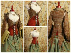 Waist 32-Bust 40 Herbs and Spices Empire Pirate Coat with FREE Torian Corset