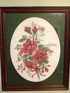 Ribboned Roses by Leisure Arts-cross stitched over 20 years ago