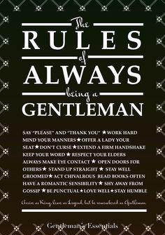 Gentleman Rules www.gentlemans-essentials.com