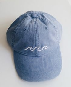 Three Waves Baseball Cap - Periwinkle sold by Static Sound. Shop more products from Static Sound on Storenvy, the home of independent small businesses all over the world.