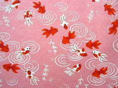 Beautiful Japanese Chiyogami Paper-Goldfish, via Flickr