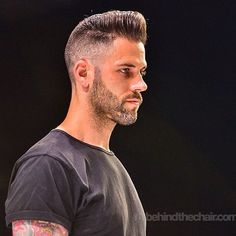 """We chose to only cut the classic chops... Because they will make panties drop..."" . @the_bloody_butcher talking his normal bullshit on the @behindthechair_com stage... Leen, The Bearded Bastard doesn't need to talk... His work does... Flattop Pomp on our buddy Josh a.k.a. @hairdemarco #quote #pantydropper #andIShakemylittletushonthecatwalk #worsthairshowintheworld #pigsonparade #lordsofthelard"