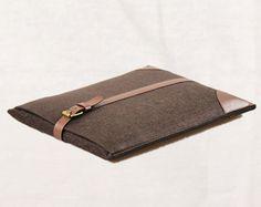 Brown Felt Macbook Case,  11.6'' / 13'.3' / 15.4'' Macbook Laptop Sleeves, Laptop Bags, Laptop Cases