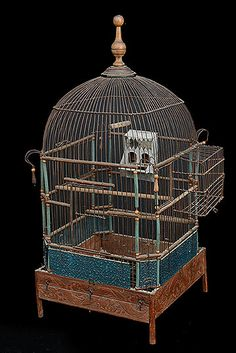 French Antique Napoleon III Period Birdcage