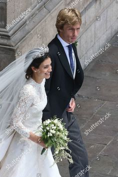 a couple of moths later Prince Christian wed Alessandra de Osma on 24 November and the bride for the Hanover floral tiara. image courtesy of shutterstock Bride Groom, Wedding Bride, Wedding Gowns, Celebrity Wedding Photos, Celebrity Weddings, Royal Brides, Royal Weddings, Beautiful Bridesmaid Dresses, Bridal Dresses